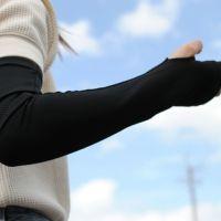 ひんやり 接触冷感 アームクーラー ロングタイプ UVカット ゆうパケット 送料無料
