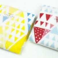 奈良県産蚊帳生地ふきんフラッグ柄7枚合わせガーゼ 3枚セット(ゆうパケット送料無料)